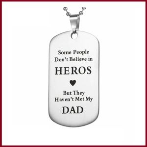 Hero/Dad Stainless Steel Necklace
